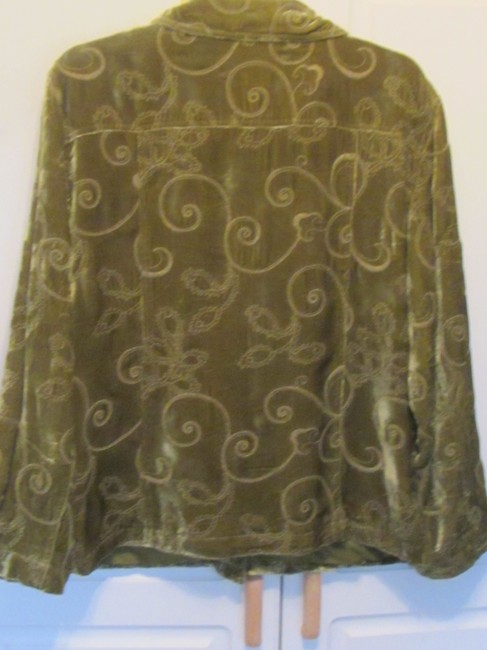 Chico's green with embroidery Jacket