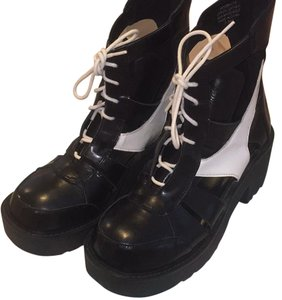 Jeffrey Campbell Black, White Boots