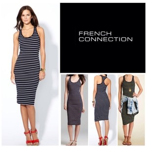 French Connection short dress Black and White Striped on Tradesy