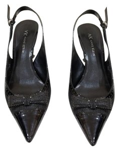 Anne Klein Dalya Bow Tie Pointy Toe Slingback Slingbacks Black Pumps