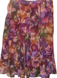 Coldwater Creek Skirt multi floral print