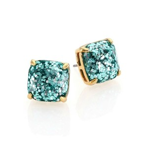 Kate Spade NEW Kate Spade New York Aquamarine Glitter Studs - 12k Square Earrings