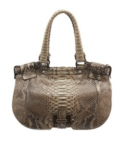 Salvatore Ferragamo Fo-217903 Python Shoulder Bag