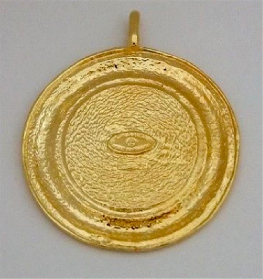 multi products gold necklace peri a peech medallion large
