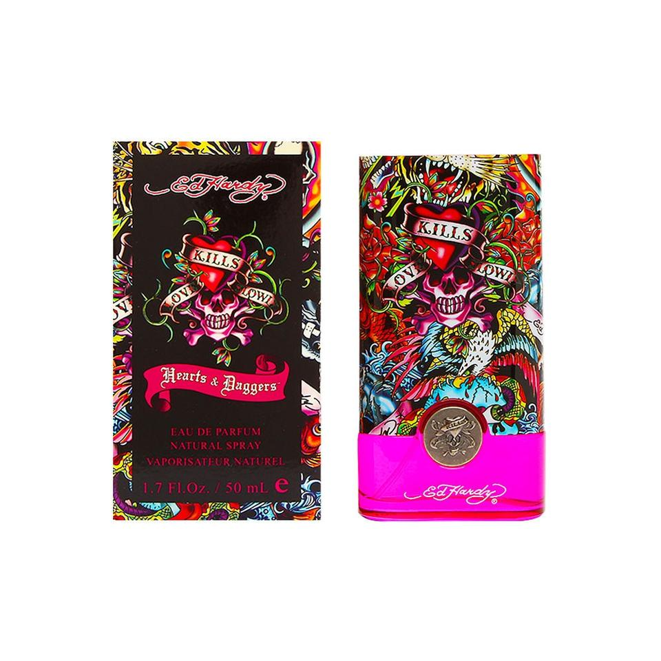 Ed Hardy Hearts Daggers Perfume 1 7oz Edp Spray Women New 94922190000: Christian Audigier ED HARDY HEARTS & DAGGERS Womens EDP Spray ~1.7 Oz / 50 Ml