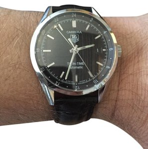 TAG Heuer TAG Heuer Calibre 7 Twin Time Automatic Black Men's Watch WV2115-0