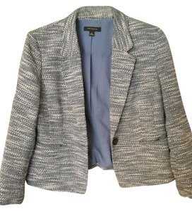 Ann Taylor Business Blue & White Blazer