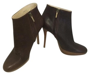 Dior Leather Platform Ankle BROWN Boots