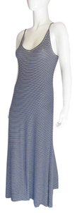 BLUE WHITE Maxi Dress by BCBGMAXAZRIA Bcbg Maxi Striped Maxi Navy