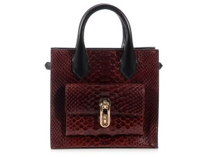 Balenciaga Bg.k0812.09 Top Handle Snakeskin Leather Ghw Tote