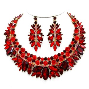 Other Rhinestone Crystal Marquise Necklace and Earrings