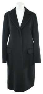 Max Mara Wool Long Black Coat