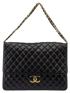 Chanel Flap Leather Jumbo Shoulder Bag