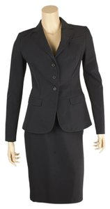 Prada Prada P1579 Gonna Blue Polyester Pencil Skirt Suit, Size 38 (102223)