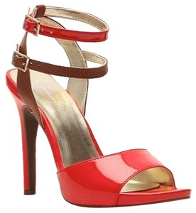 Jessica Simpson Hot Pink/Brown Sandals