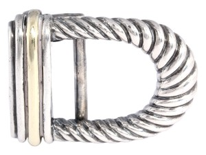 David Yurman Narrow Sterling Silver Cable Belt Buckle