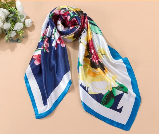 Multi Colored Silk/Polyester Blend Bogo Free Big Square Poly Scarf Free Shipping Casual Bridesmaid/Mob Dress Size OS (one size)