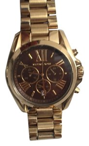 Michael Kors Bradshaw Gold With Chocolate Face