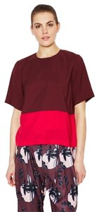 Alice Ritter Colorblock Color-blocking Top pink, burgandy