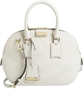Burberry Orchard Satchel in Ivory