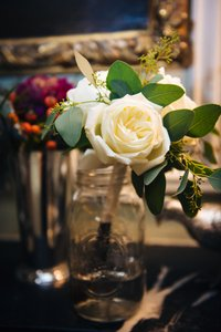 10 Assorted Glass Jars For Flowers