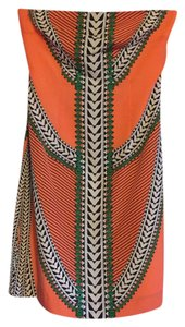 Mara Hoffman short dress Coral print on Tradesy
