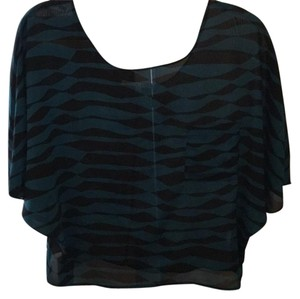 Collective Concepts Top Black and teal