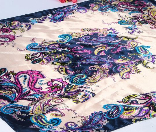 Multi Colored Stunning Silk Blend Big Square Scarf Free Shipping Dress