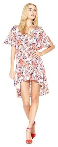 Tucker short dress Pink multi Silk Floral on Tradesy