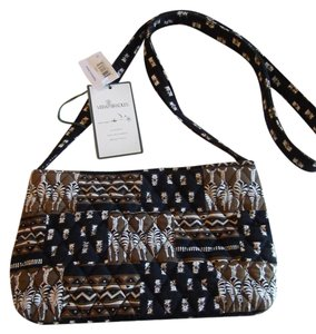 Vera Bradley Zebra Patchwork New Shoulder Bag