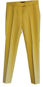 Theory Capri/Cropped Pants Mustard