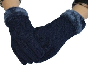 extra thick fur lined knit gloves free shipping