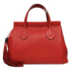 Gucci Tassel Satchel in Red