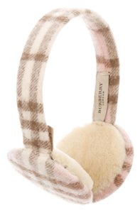 Burberry Pink, multicolor cashmere Burberry Nova check ear muffs