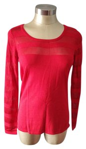 INC International Concepts 3/4 Sleeve 52691wh899 Basic Tee Cotton Blends 3340-0007 T Shirt Real Red