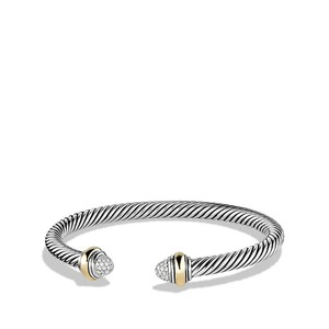 David Yurman Cable Classics Bracelet with Diamonds and Gold (Medium)