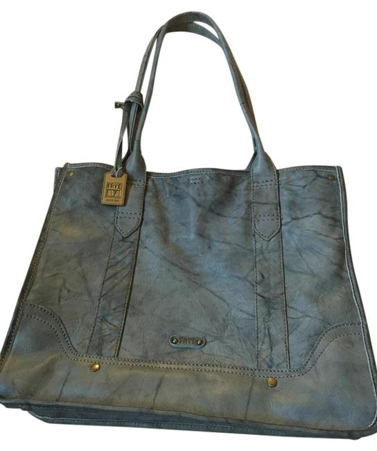 Item - Campus Shopper Gray Leather Tote