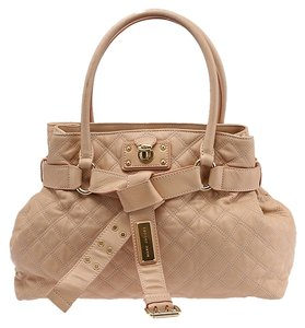 Marc Jacobs Kari Quilted Leather Shoulder Tote in Peach