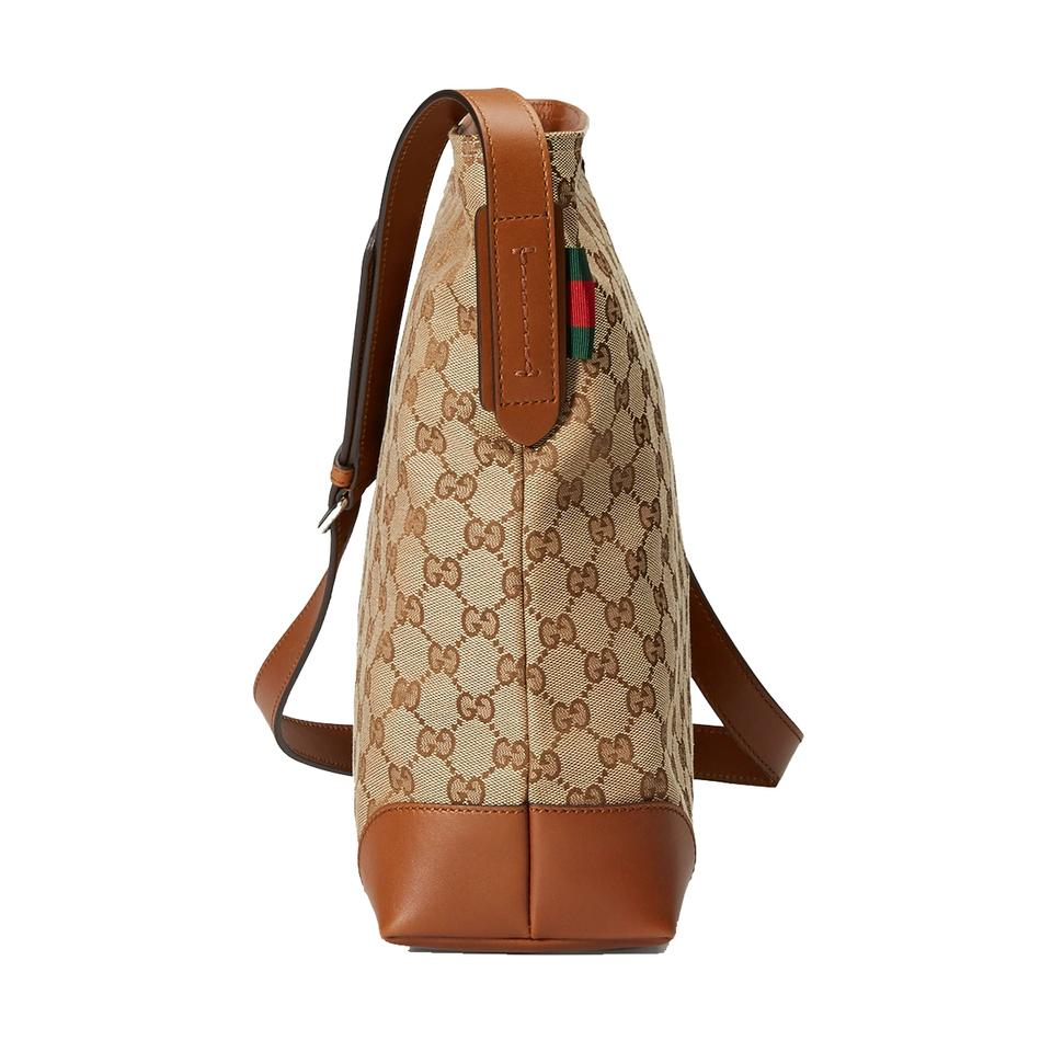 gucci brown canvas messenger bag from queenbee on tradesy. Black Bedroom Furniture Sets. Home Design Ideas