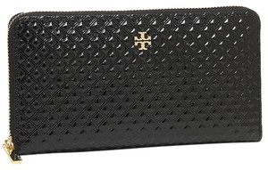 Tory Burch New Tory Burch Marion Embossed Patent Multi Gussett Zip Continental Wallet