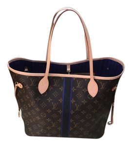 Louis Vuitton Mon Monogram Neverfull Tote in Violet and Black