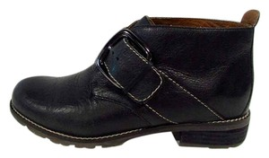 Sfft Boone Leather Buckle Ankle Black Boots