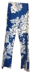 Yoga Athletic Pants blue and white floral