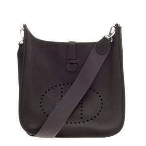 Herms Hermes Leather Cross Body Bag