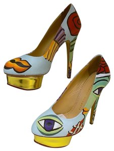 Charlotte Olympia Dolly Picasso Multicolor Pumps