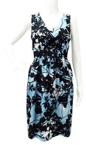 Akris Punto short dress Blue/ Black Sheath Sleeveless on Tradesy
