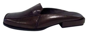 Eddie Bauer Slip On Backless Leather Brown Mules