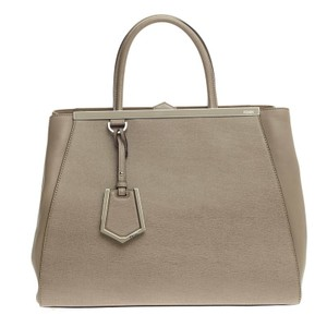 Fendi Leather Tote in Taupe