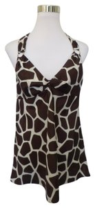 Banana Republic Animal Print Top Brown