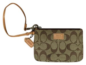 Coach Wristlet in Tan/ Brown C's